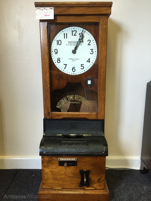 Antiques Atlas National Time Recorder Clock