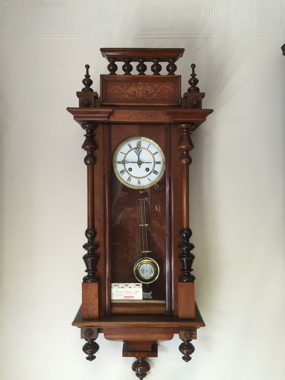 Antiques Atlas Two Train Vienna Wall Clock