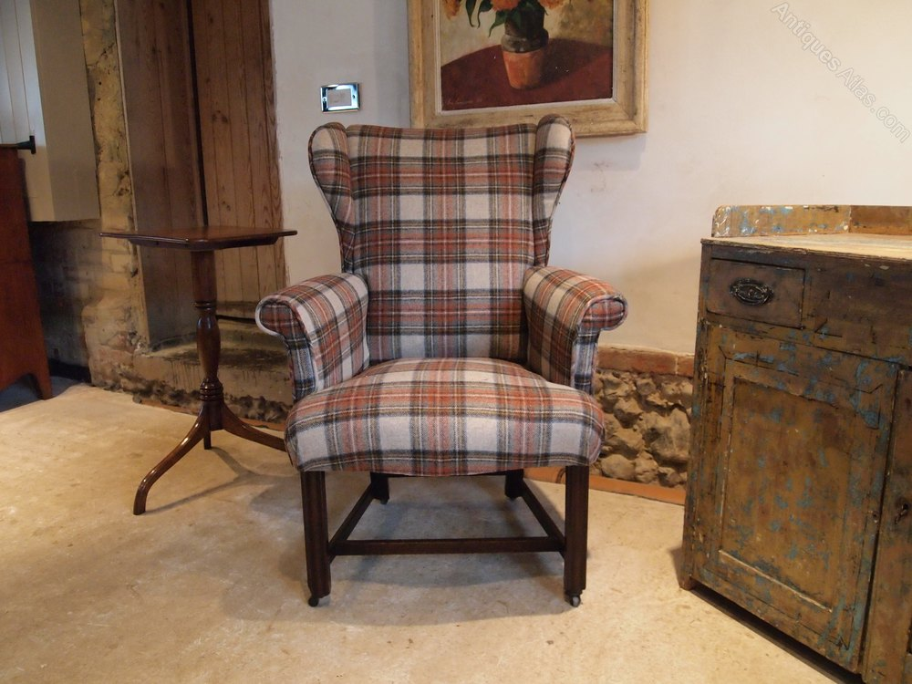 armchair rare george iii mahogany ladies wing antiques atlas. Black Bedroom Furniture Sets. Home Design Ideas