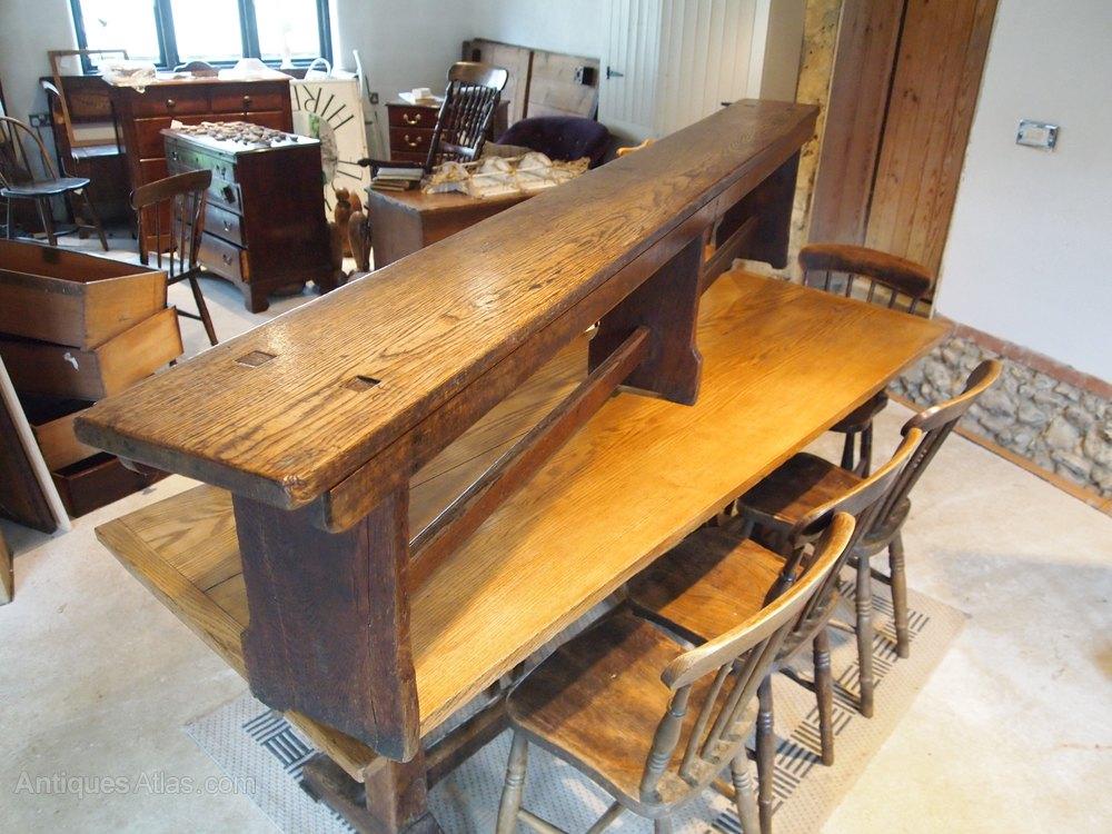 Bench Settle Pew Victorian Oak Langley School Antiques Atlas