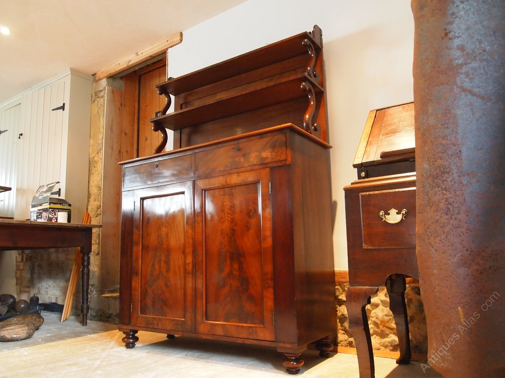 bookcase chiffonier victorian mahogany stamped antiques atlas. Black Bedroom Furniture Sets. Home Design Ideas