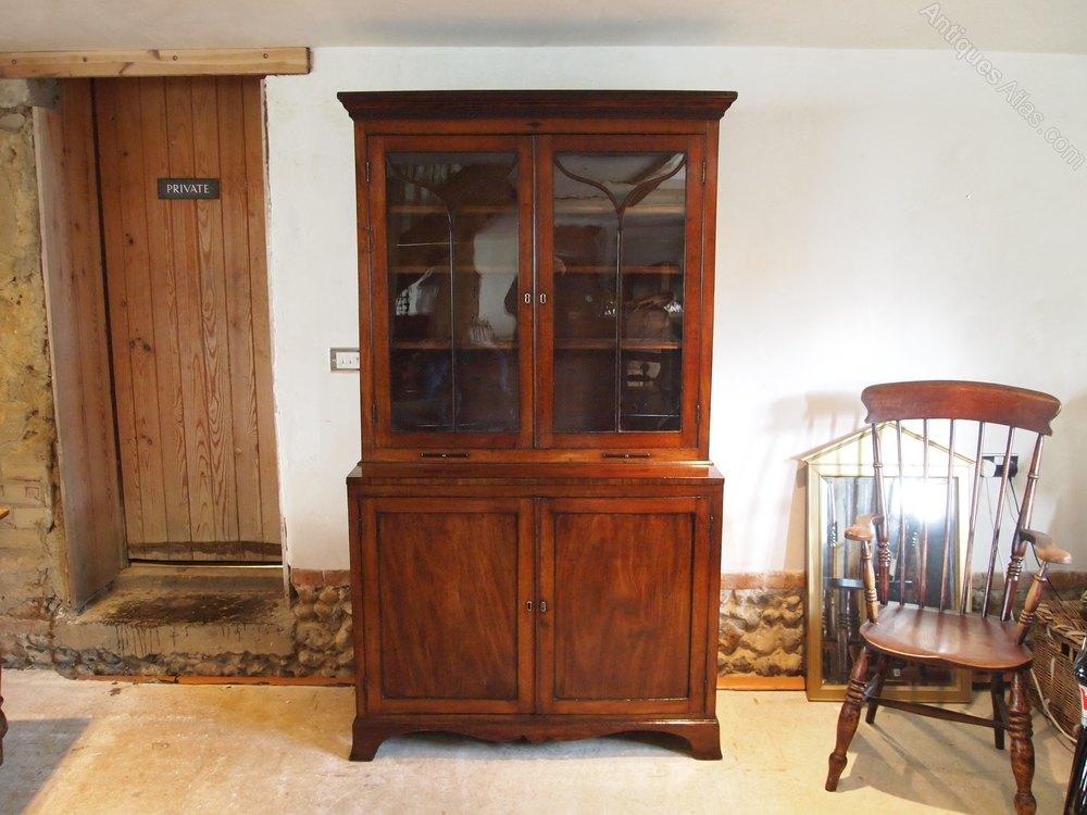 bookcase george iii mahogany fine quality c1790 antiques atlas. Black Bedroom Furniture Sets. Home Design Ideas