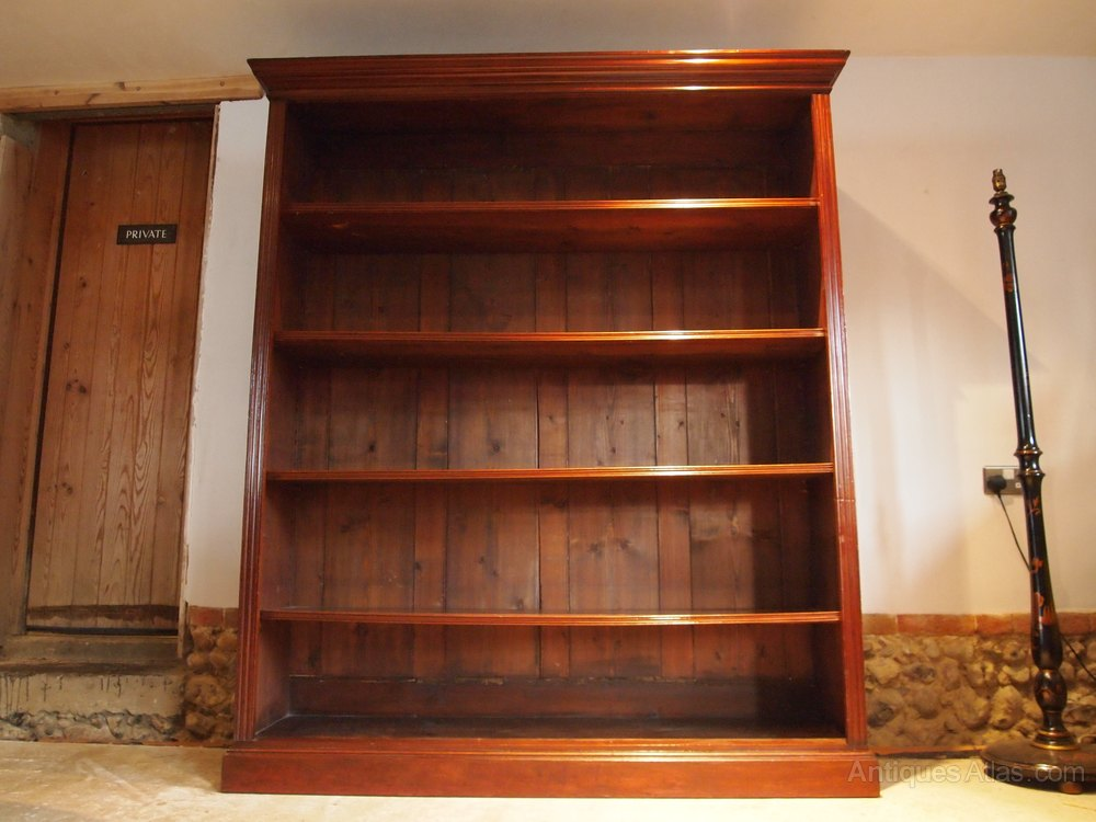 Great Cloverleaf Home Interiors Bookcase Large Victorian Mahogany C1890 Antiques  Atlas