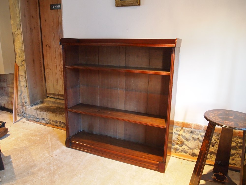 bookcase victorian walnut c1890 antiques atlas. Black Bedroom Furniture Sets. Home Design Ideas