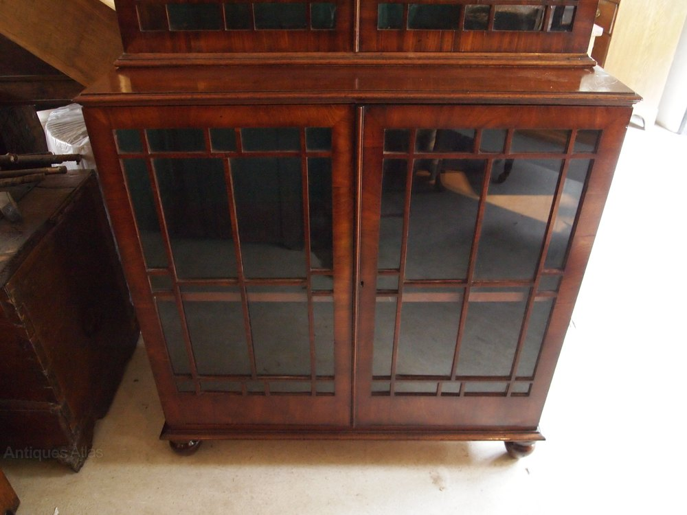 bookcase fine george iii mahogany glazed c1800 antiques cloverleaf home interiors home design ideas