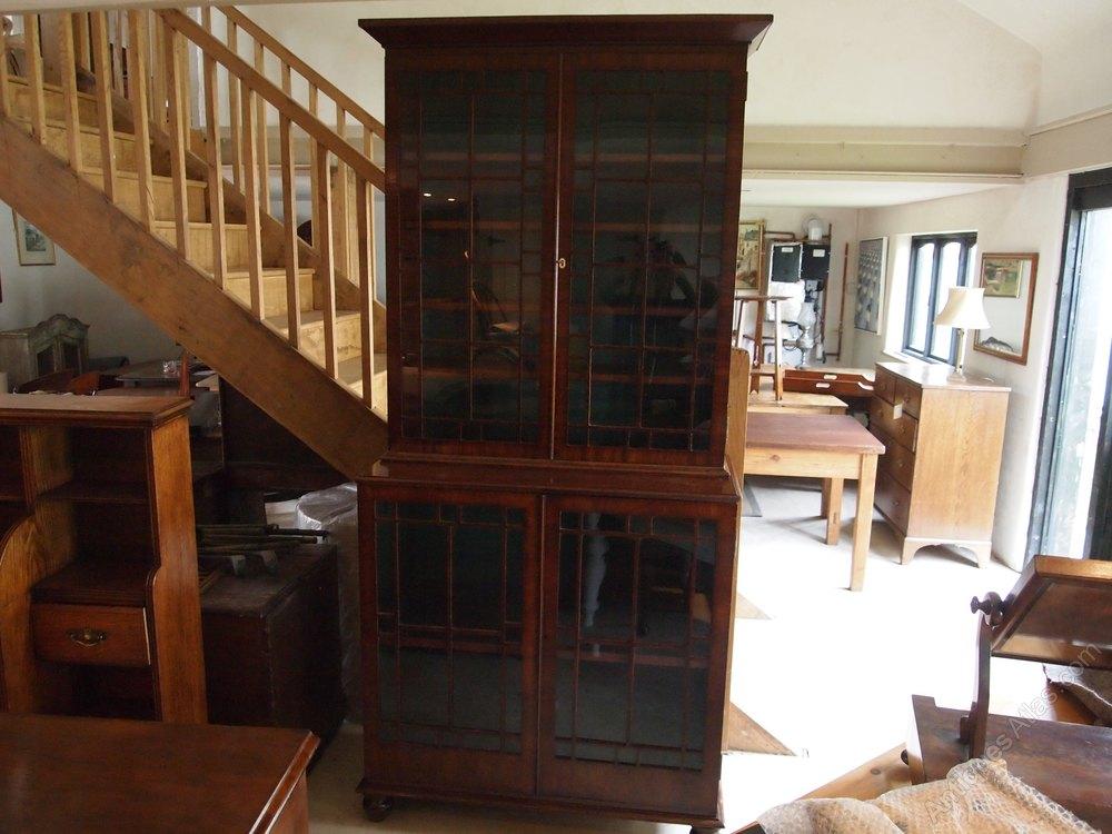 bookcase fine george iii mahogany glazed c1800 antiques atlas. Black Bedroom Furniture Sets. Home Design Ideas