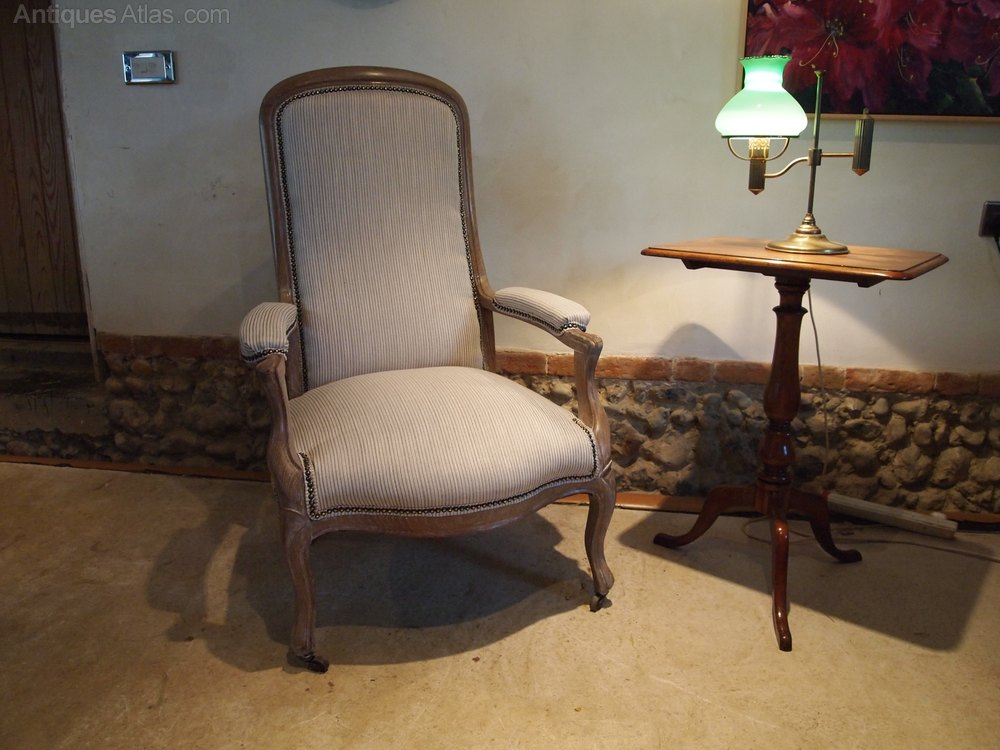 chair french limed oak fauteuil armchair edwardian antiques atlas. Black Bedroom Furniture Sets. Home Design Ideas