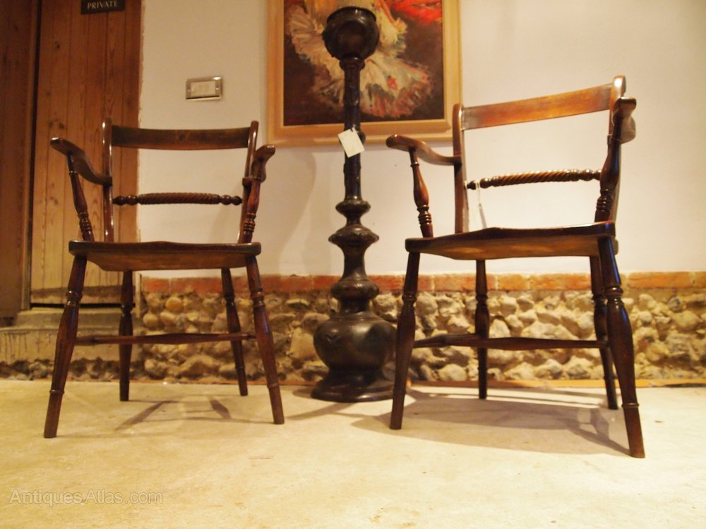 chairs a pair of victorian windsor rope back c1870 antiques atlas. Black Bedroom Furniture Sets. Home Design Ideas