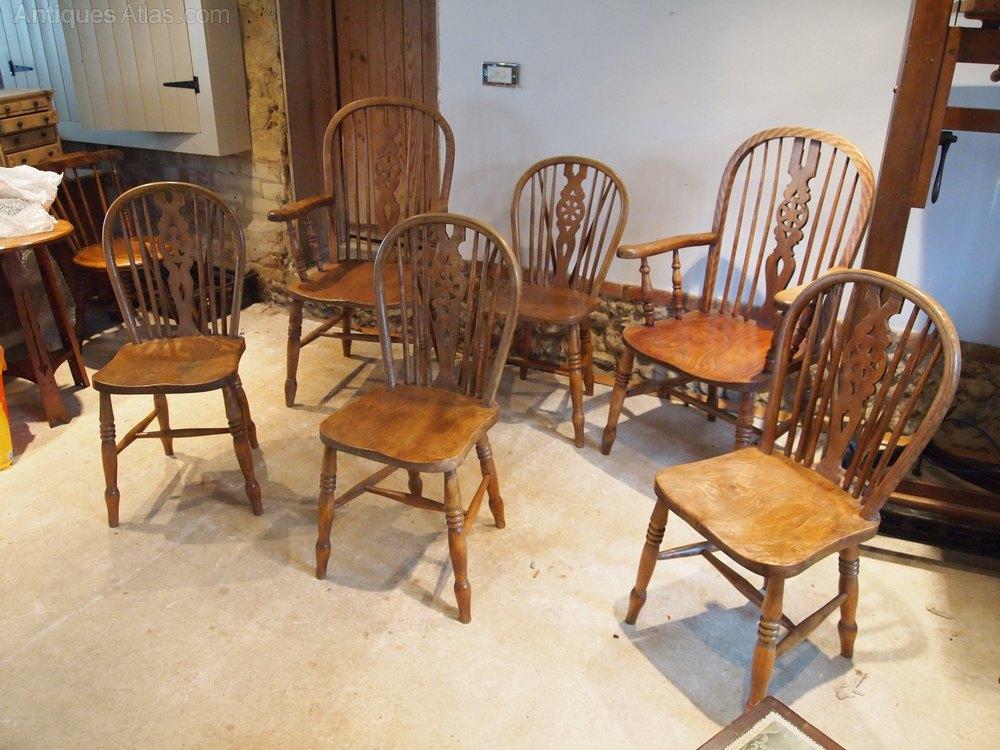 chairs set of 6 victorian windsor beech elm c1880 antiques atlas. Black Bedroom Furniture Sets. Home Design Ideas