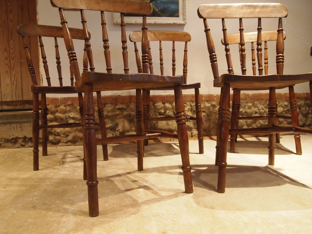 chairs set of five victorian windsor kitchen chair antiques atlas. Black Bedroom Furniture Sets. Home Design Ideas