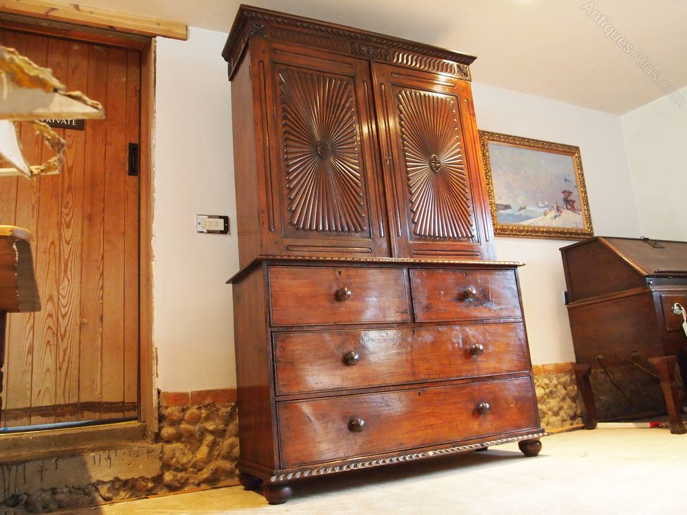 Another Images Of Cloverleaf Home Interiors. Chest Of Drawers Linen Press  Colonial Teak C1840 Antiques Atlas