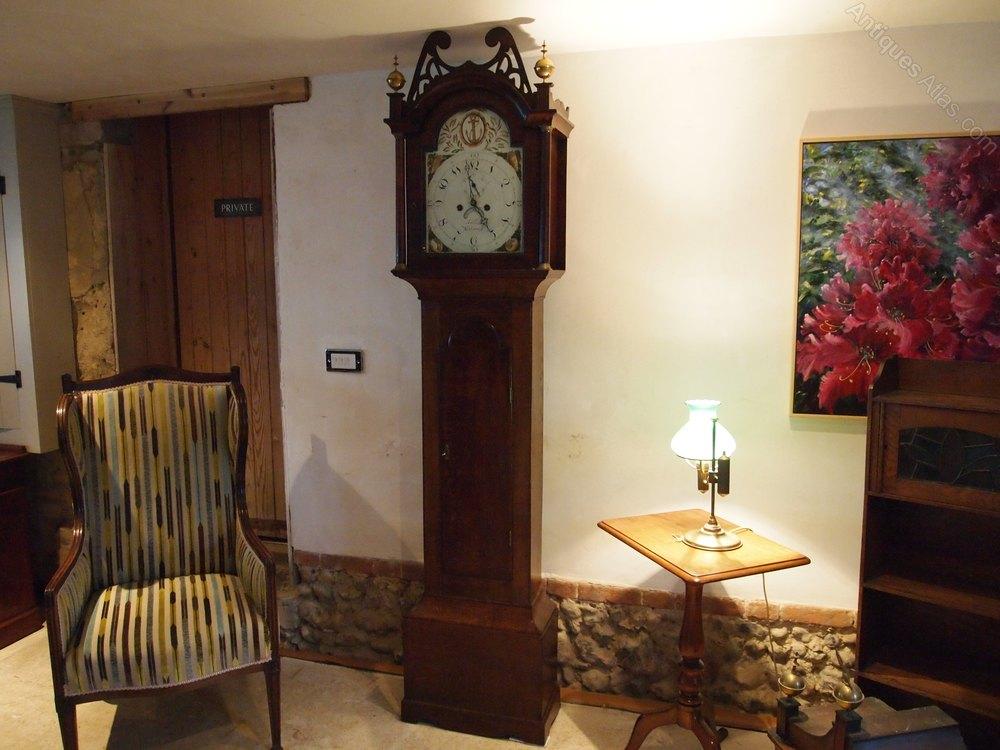 antiques atlas clock longcase grandfather clock william francis. Black Bedroom Furniture Sets. Home Design Ideas
