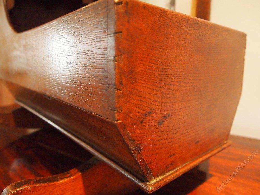 antiques atlas dolls crib rare george iii oak c1790. Black Bedroom Furniture Sets. Home Design Ideas