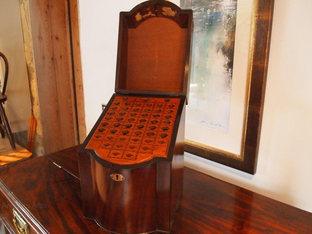antiques atlas knife box george iii mahogany c1790. Black Bedroom Furniture Sets. Home Design Ideas