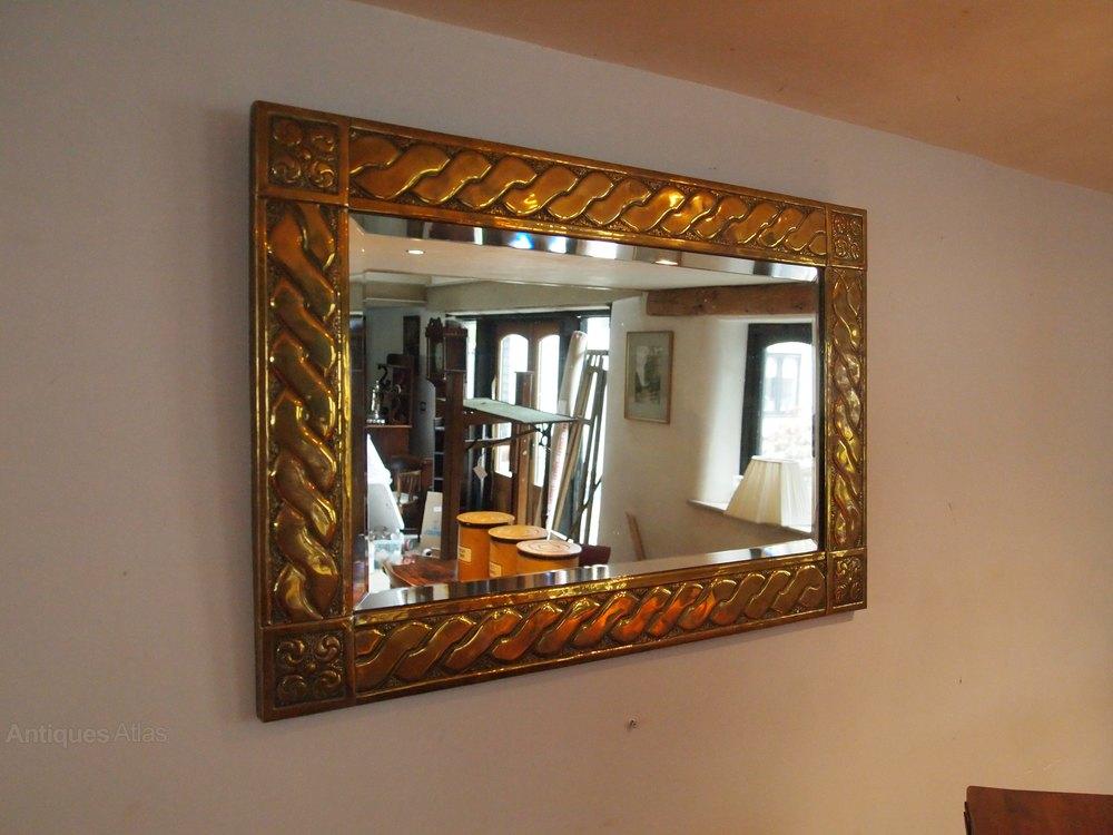 antiques atlas mirror arts and crafts brass glasgow school c1900. Black Bedroom Furniture Sets. Home Design Ideas