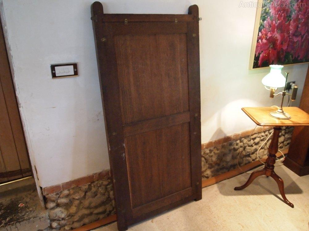 antiques atlas mirror arts and crafts oak pugin influenced mirror. Black Bedroom Furniture Sets. Home Design Ideas