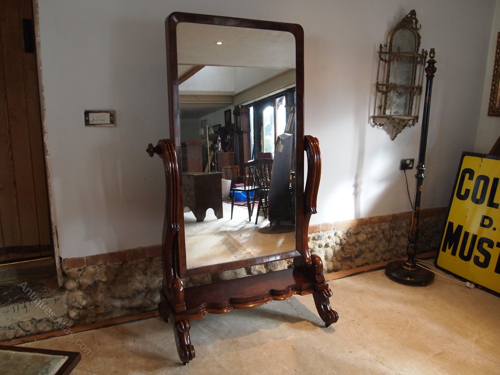antiques atlas mirror cheval stunning william iv mahogany c1835. Black Bedroom Furniture Sets. Home Design Ideas