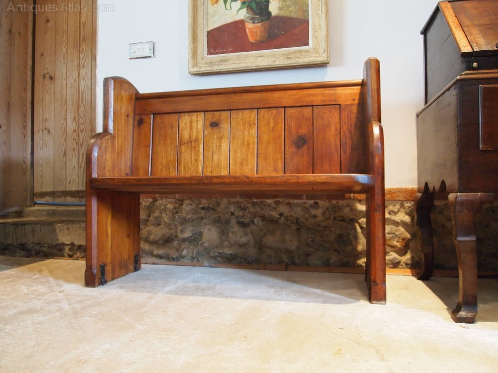 pew bench settle victorian pitch pine c1880 antiques atlas. Black Bedroom Furniture Sets. Home Design Ideas