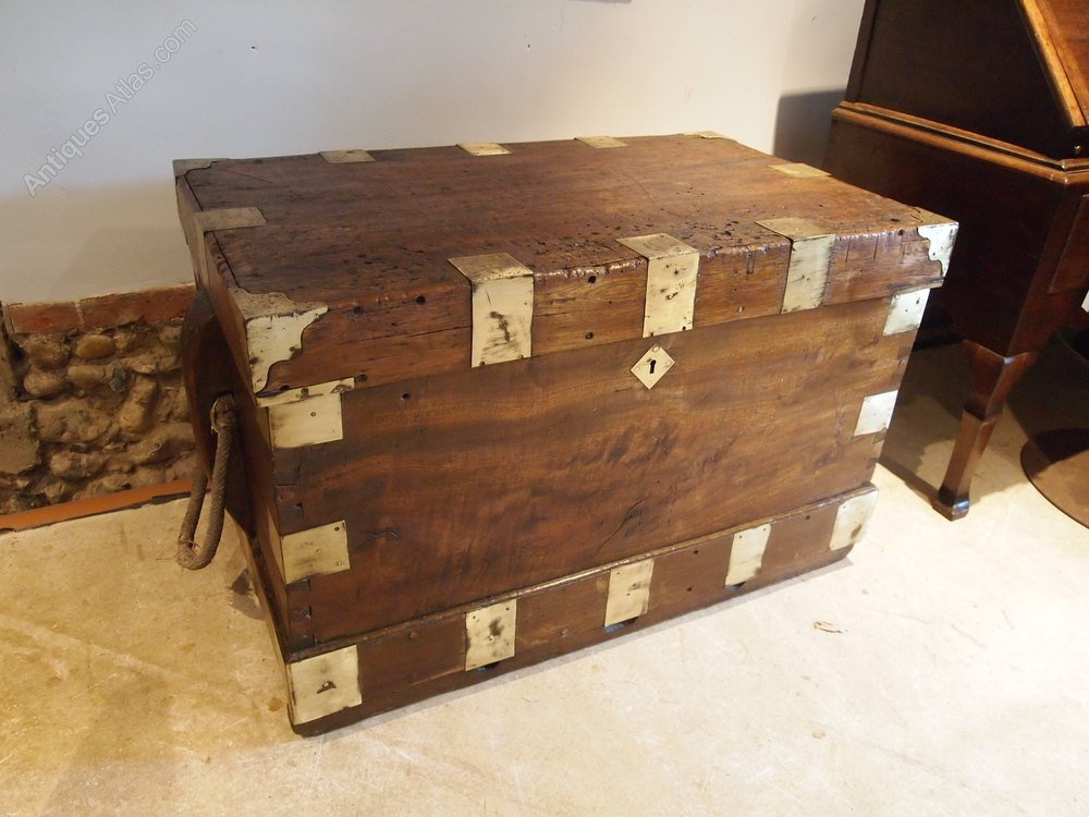 Seamans Chest Blanket Box Coffee Table Rare C1810 Antiques Atlas