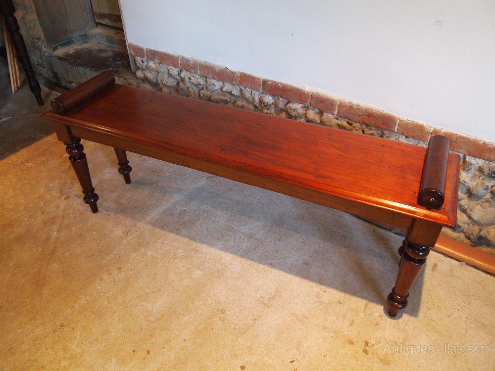 Settle Bench Victorian Mahogany Window Seat C1860