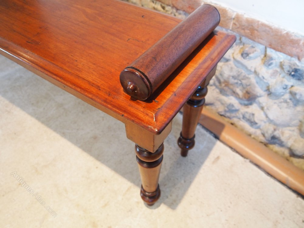 Settle Bench Victorian Mahogany Window Seat C1860 Antiques Atlas