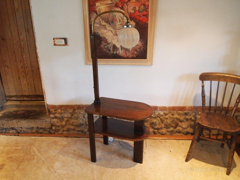 table art deco lamp table walnut c1930 antiques atlas. Black Bedroom Furniture Sets. Home Design Ideas