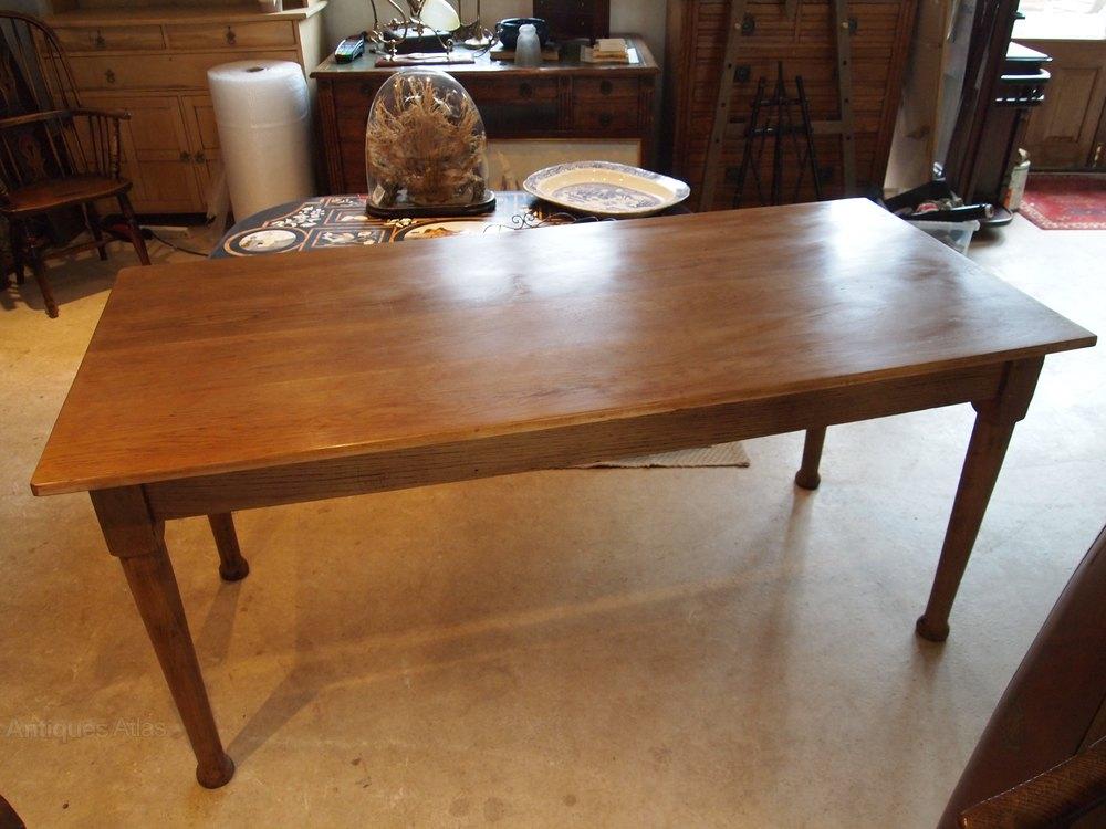 table edwardian oak kitchen dining table c1910 antiques