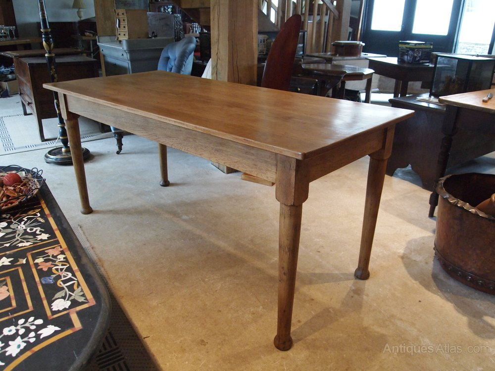 Table Edwardian Oak Kitchen Dining Table C1910 Antiques Atlas