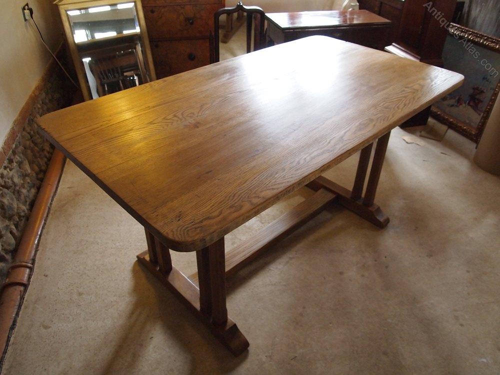 table oak refectory dining table c1920 antiques atlas. Black Bedroom Furniture Sets. Home Design Ideas