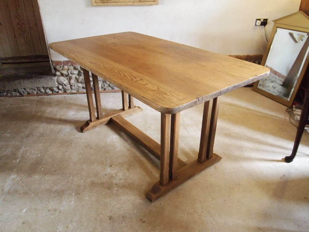 Table Oak Refectory Dining Table C1920 Antiques Atlas