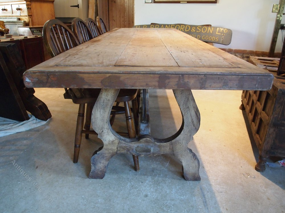 table spanish fruitwood refectory farmhouse dining antiques atlas. Black Bedroom Furniture Sets. Home Design Ideas