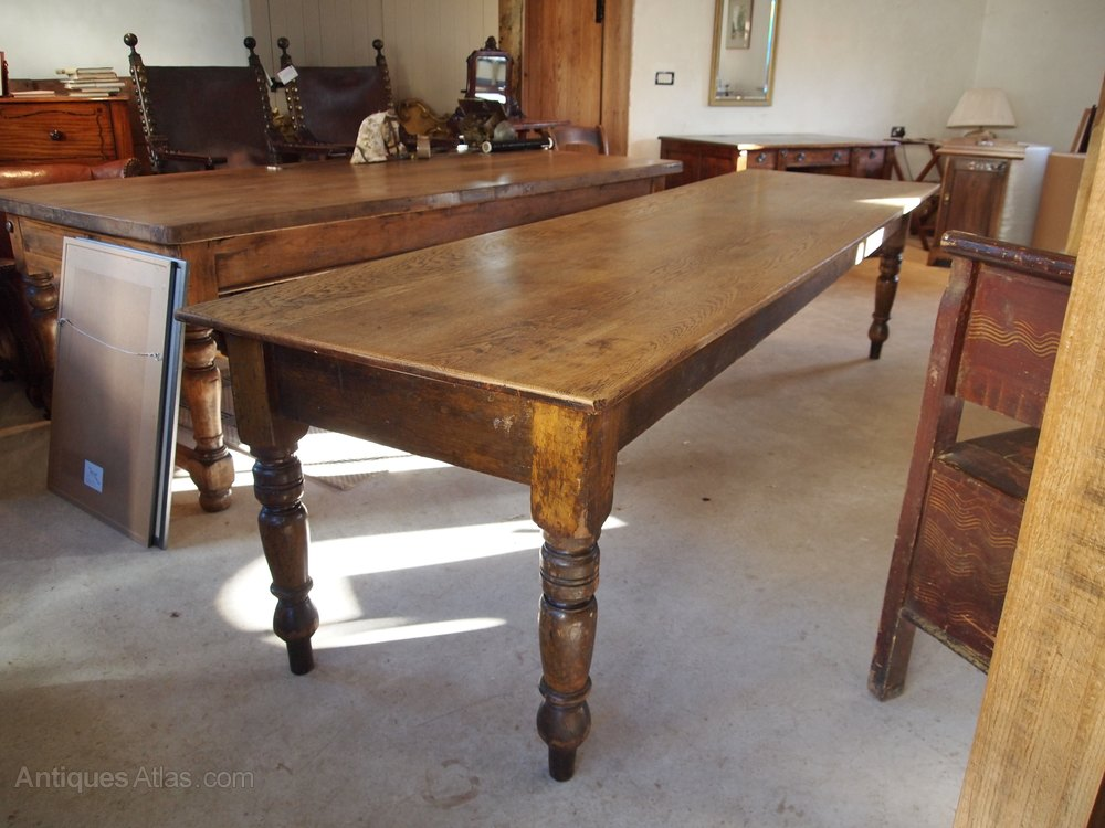 Table Victorian Oak Refectory Kitchen Dining Table Antiques Atlas