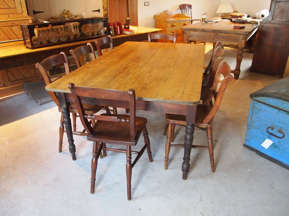 Table Victorian Pine Farmhouse Dining Refectory Antiques Atlas
