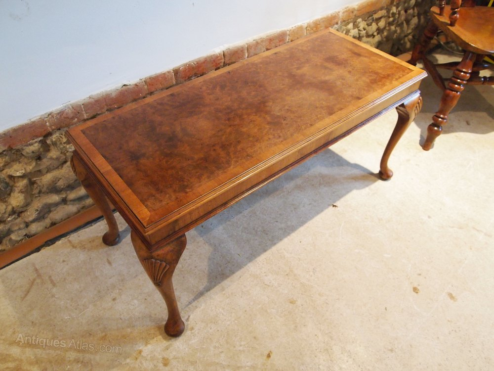 Antiques Atlas Table Coffee Table Burr Walnut Queen Anne Style