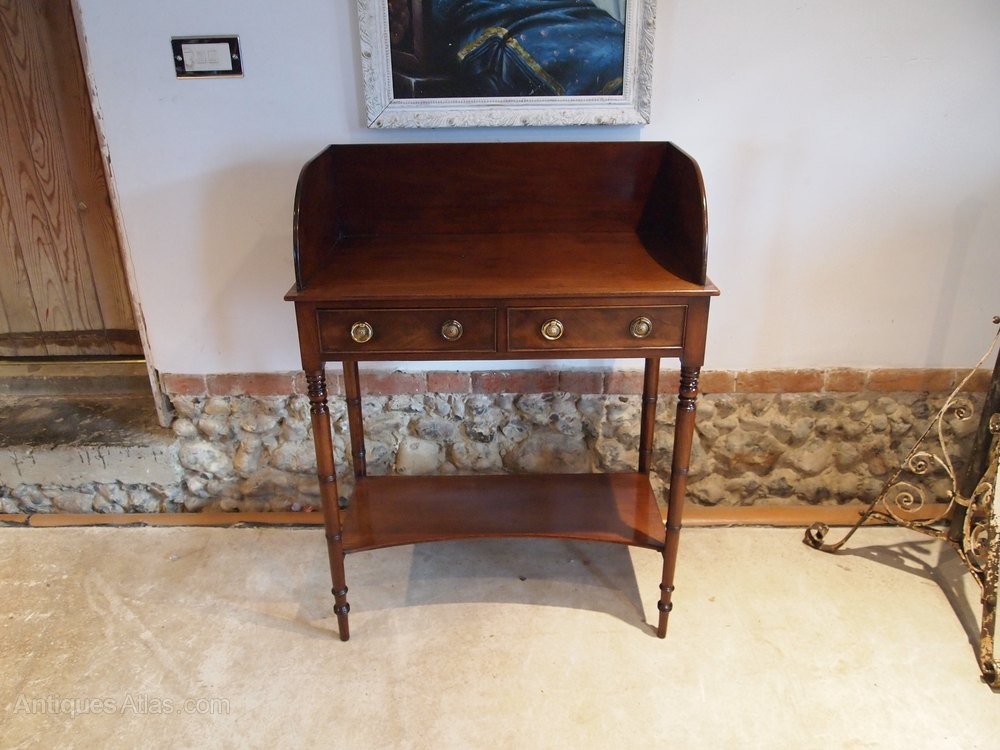table hall console side lamp george iv mahogany antiques atlas. Black Bedroom Furniture Sets. Home Design Ideas