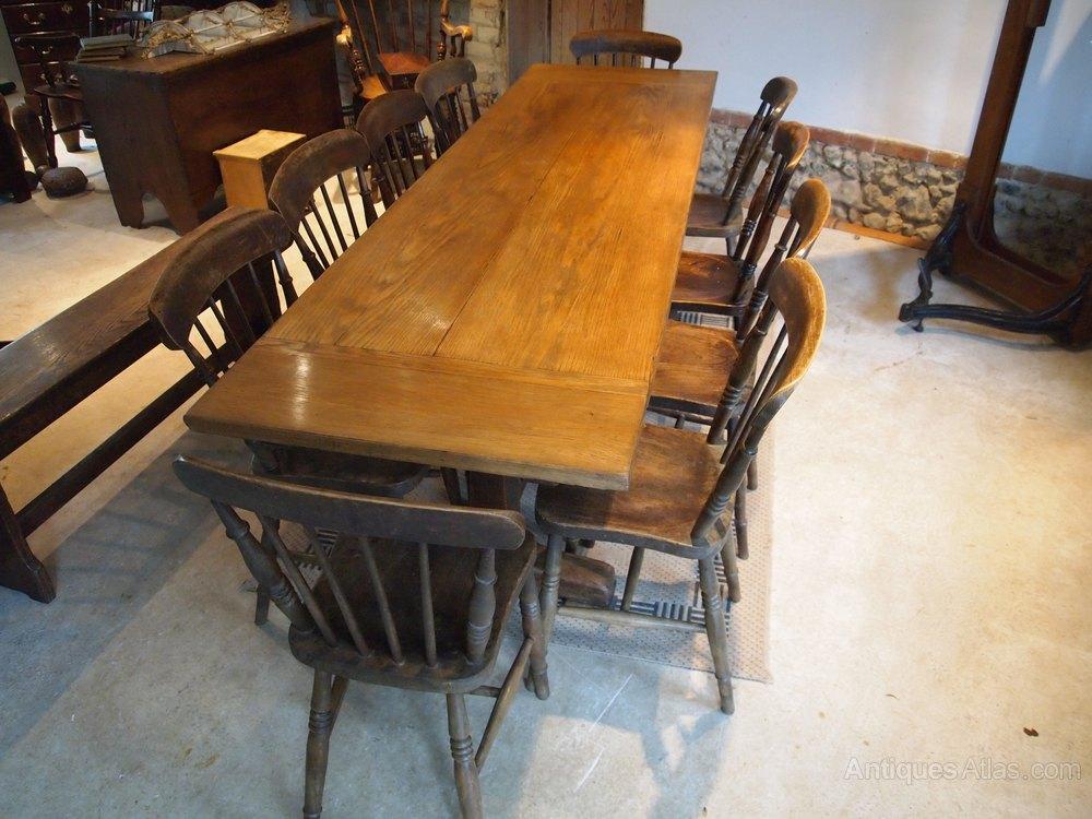 table refectory oak langley school edwardian c1910 antiques atlas. Black Bedroom Furniture Sets. Home Design Ideas