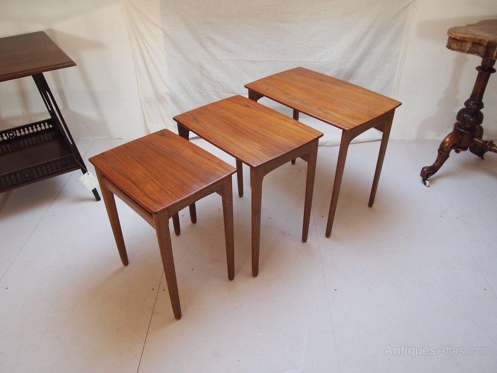 antiques atlas tables nest danish teak svend a madsen. Black Bedroom Furniture Sets. Home Design Ideas