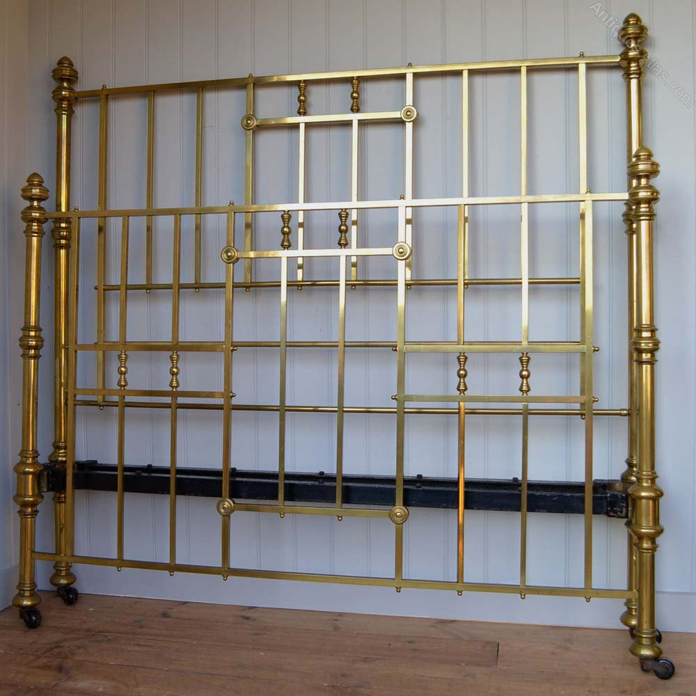 Original Victorian Brass Beds : Original victorian king size ft brass bed antiques atlas