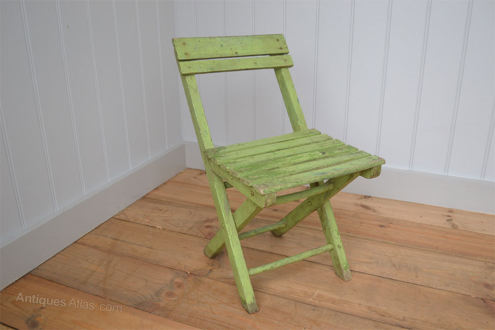 Antiques Atlas Quirky Little Painted Child s Folding Chair