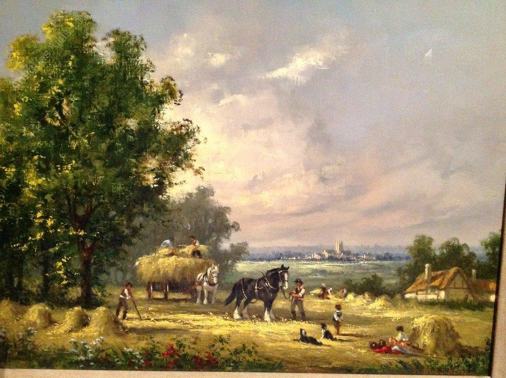 antiques atlas gudrun sibbons oil painting of a farming