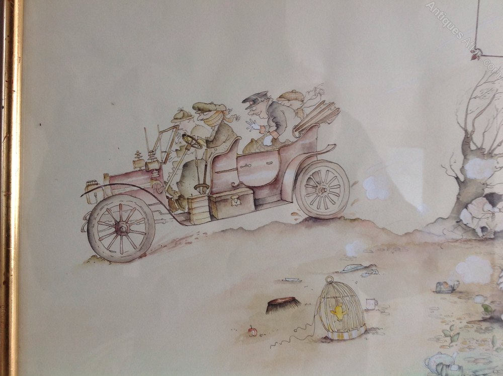 Antiques Atlas Original Illustration For Wind In The Willows