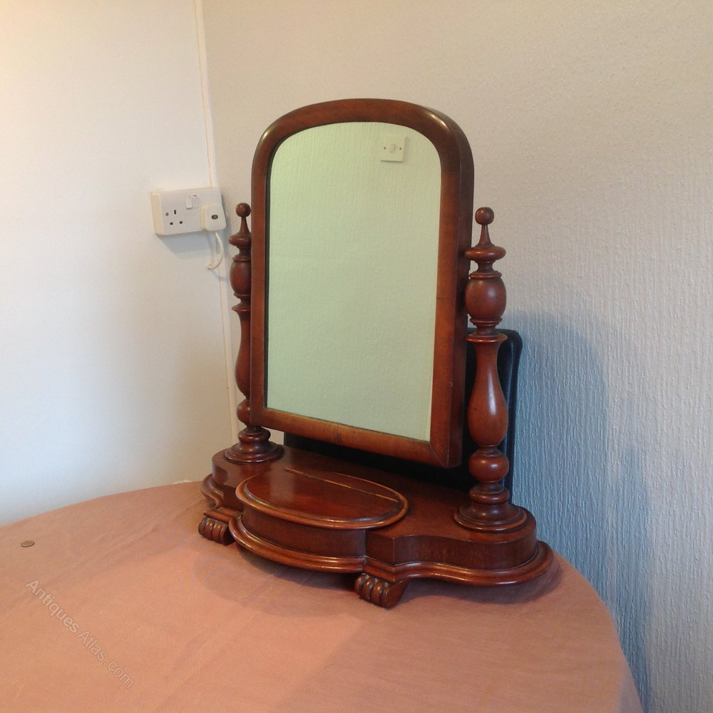 Antiques atlas victorian dressing table mirror for Victorian mirror
