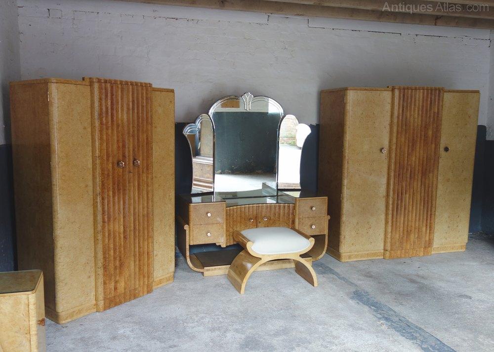 Art deco 8 piece bedroom suite by h l epstein antiques atlas for Vintage bedroom suite