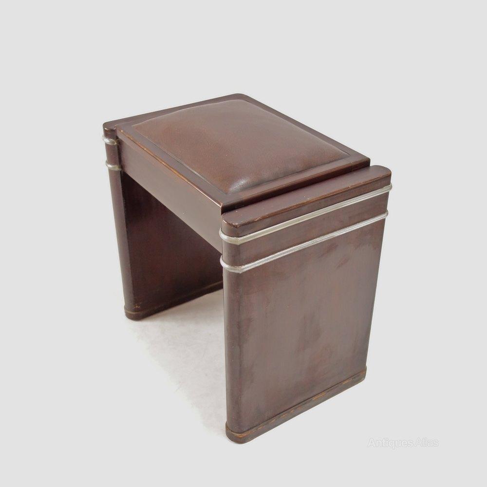 Art Deco Mini Eavestaff Piano stool in Walnut C1930 ... & Art Deco Mini Eavestaff Piano Stool In Walnut C1930 - Antiques Atlas islam-shia.org