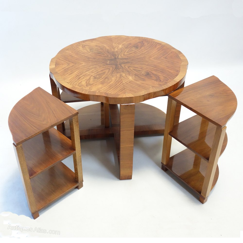 Art Deco Nest Of Tables By Harry & Lou Epstein. - Antiques Atlas