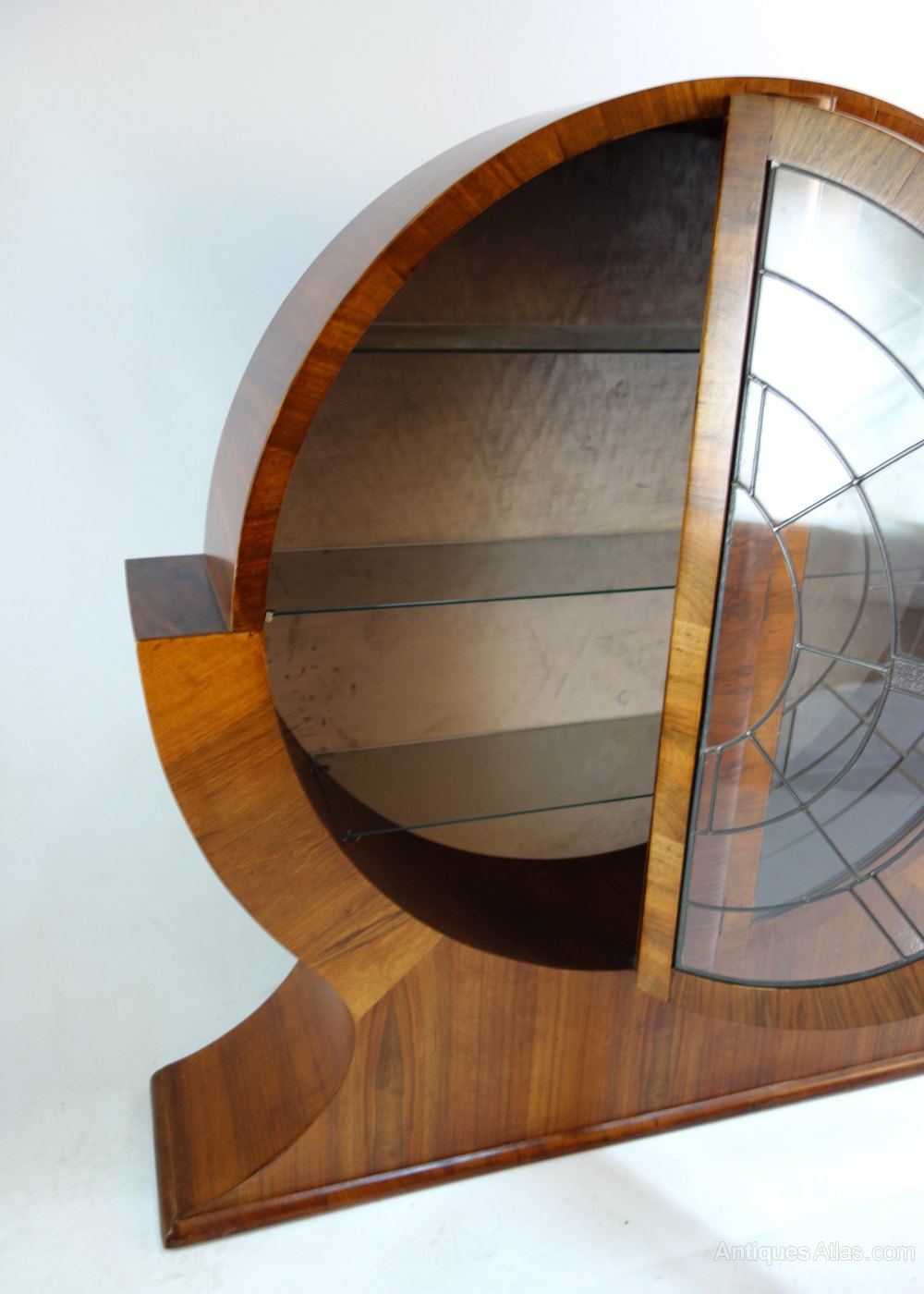 Art Deco Round Display Cabinet 1930s Antiques Atlas