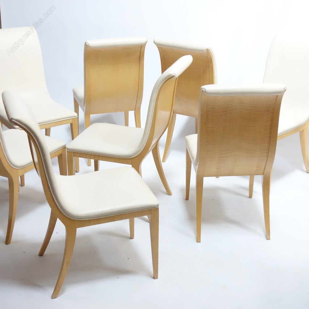 Antiques Atlas - Art Deco Style Dining Chairs Set Of Eight