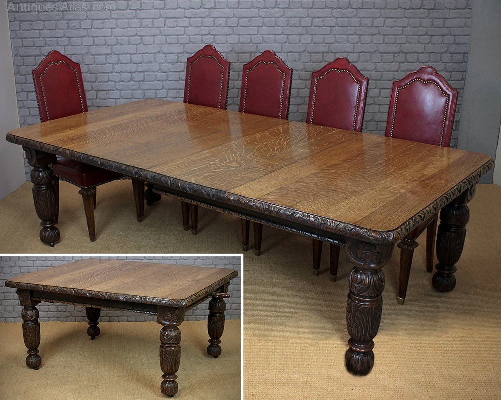 10 seater extending oak dining table antiques atlas for 10 seat dinning table