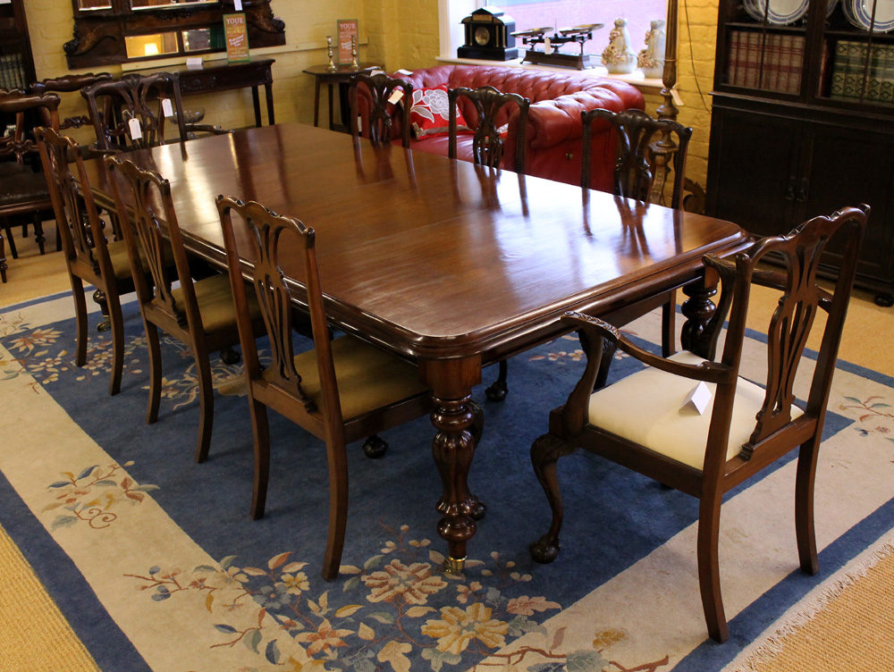10 seater mahogany dining table antiques atlas for 10 seater dining table