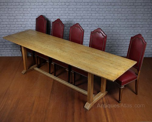 10 seater oak refectory dining table antiques atlas for 10 seater solid oak dining table